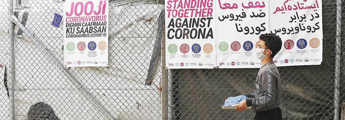 Vluchtelingen Lesbos corona