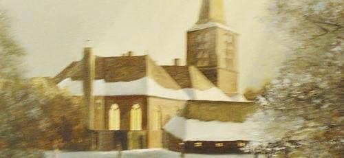 Mandy Nellestein Schilderij Oude Kerk Lunteren
